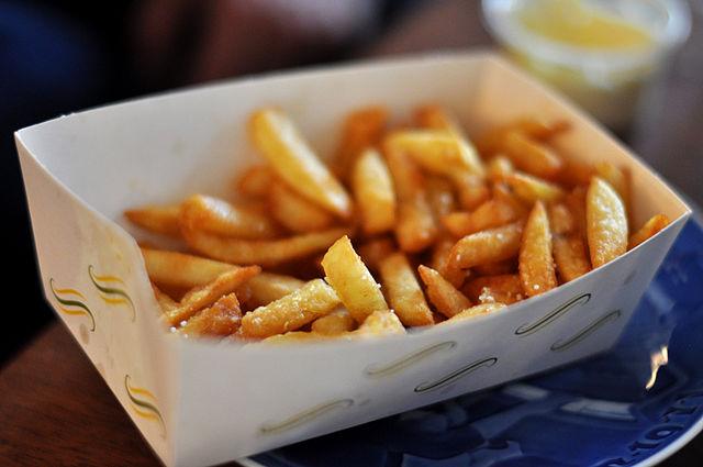 Des frites, star de la buvette